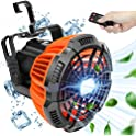 Rechargable Camping LED Lantern Fan with Hanging Hook & Remote