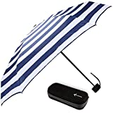 Travel Umbrella with Waterproof Case - Small and Compact for Backpack or Purse. Great Umbrella for Women, Men or Kids. (Stripes)