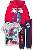 Transformers Graphic Hoodie, T-Shirt, & Jogger Sweatpant, 3-Piece Athleisure Outfit Bundle Set - Toddler Boys - Hasbro - Optimus Prime