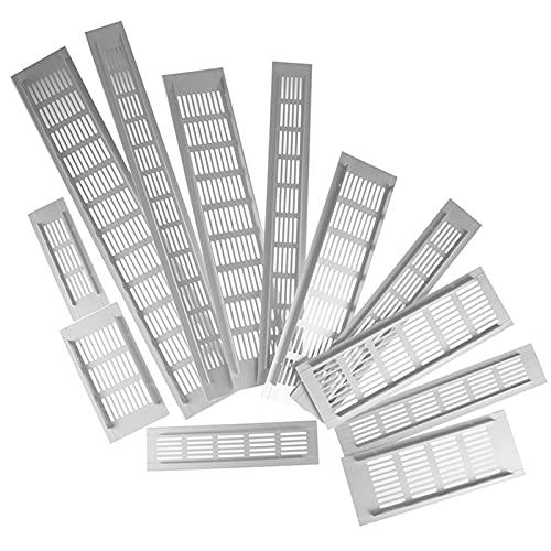 PYSDWE 2pcs Ventilaciones Hoja Perforada Aleación de Aluminio Aleación de Aire Rejilla de ventilación de Pared Blanca Conducción de ventilación Cubierta de ventilación Placa de ventilación Grill