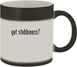 got stubbiness? - Ceramic Matte Black Color Changing Mug, Matte Black