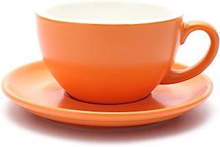少量分のコーヒー(pour-over coffee)/ダブルエスプレッソコーヒー 厚みのある専用エナメルカップ バリスタ使用カップ (マットオレンジ matte orange, 150ML)