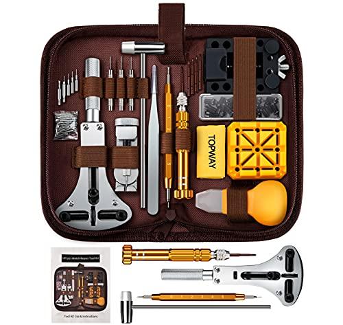 Watch Repair Kit, Topway 149 PCS Watch Battery Replacement Tool, Watch Band Repair Tool, Watch Spring Bar Tool Set, Watch Band Link Pin Tool Set with Instruction Manual