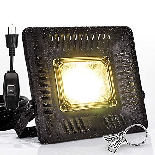 Eastdall Luzes Led De Cultivo Para Plantas,Luzes LED à prova d'água para crescimento de plantas, lâmpadas/lâmpadas de amplo espectro para plantas, IP67 50W de parede externa LED