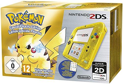 Nintendo 2DS - Konsole (Gelb Transparent) inkl. Pokémon Gelbe Edition: Special Pikachu Edition