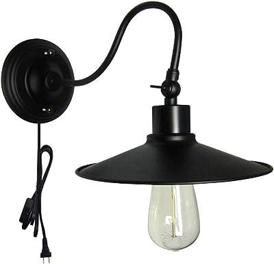 Applique Applique Aisle escalier, en fer forgé Lampe LED mur 1 * E27 (22 * 22.7CM)
