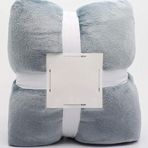 Manta de TV con cómoda Manta de Polar Coral,para Banco de sofá Cama/Cabello Largo/Ligero/cálido y cómodo/tamaño King.