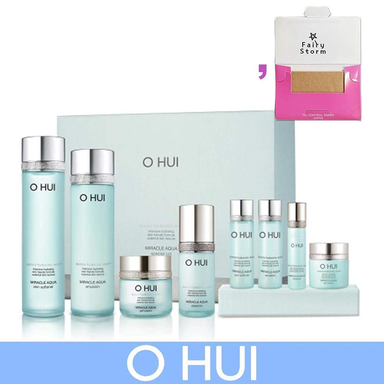 記録写真の里親[オフィ/O HUI]韓国化粧品 LG生活健康/O HUI MIRACLE AQUA SPECIAL SET/ミラクル アクア 4種セット + [Sample Gift](海外直送品)