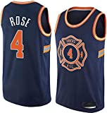 WHYYT Jerseys de la NBA - New York Knicks # 4 Derrick Rose Men's Basketball Jersey, cómoda camionera de Malla Bordada Transpirable,M(170~175CM/65~75KG)