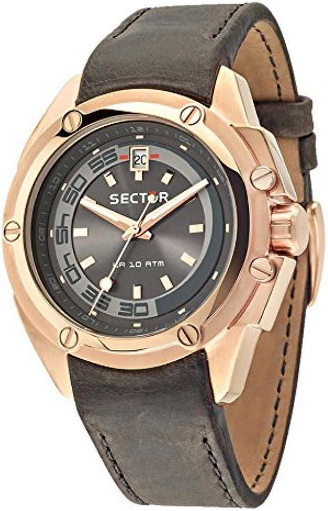 Sector no limits, orologio per uomo,in acciaio pvd rosa e cinturino in pelle R3251581002