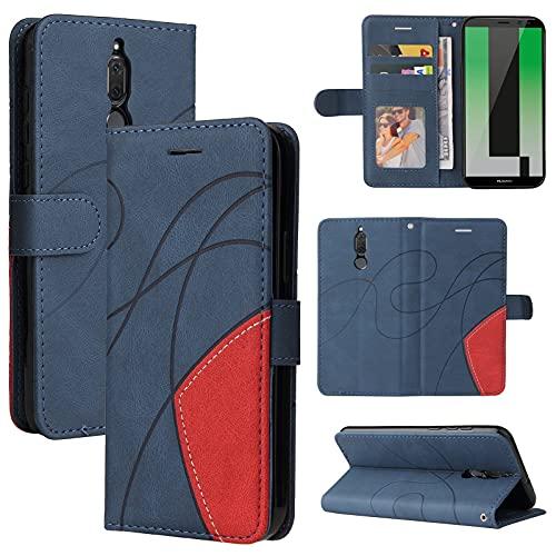 ZHANGHUI Funda protectora para Huawei Mate10 Lite Funda de piel tipo cartera, ranura para tarjeta con tapa para teléfono Huawei Mate10 Lite, para hombre y mujer, a prueba de golpes, de cuatro colores