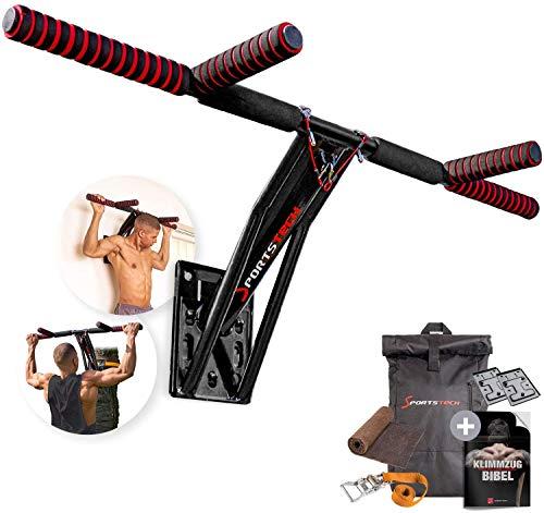 Sportstech Premium 2in1 Sbarra Pull-Up & Dip Bar KS700 | Facile da Montare | Mobile per Il Fitness a casa + Parete, Albero, Giardino | Oltre 40 Esercizi | Inclusi:...