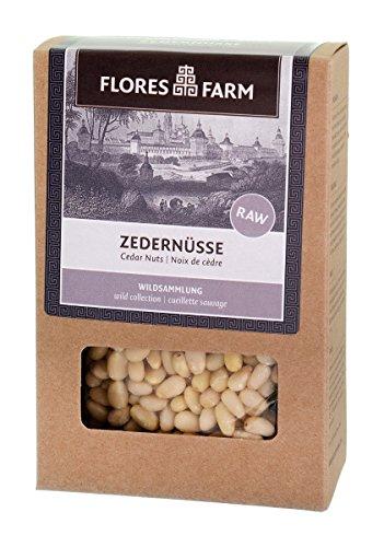 Flores Farm Wilde Premium-Zedernüsse aus Sibirien, Rohkost-Qualität (80 g)