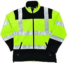 ERB Safety Products 62197 W651 Class 2 Soft Shell Women's Jacket, Medium, Hi Viz Black/Lime 3X-Large 62201 1