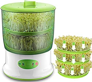 Lilying Kitchen Appliances .Intelligent Bean Sprouts Maker Household Upgrade Large Capacity Thermostat Green Seeds Growing Automatic Sprout Machine Two layers