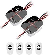 Interruptor de luz eMylo Smart Wifi (2 pacotes) com interruptor de controle remoto sem fio RF Função de temporização para ...