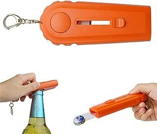 Vaughenda Cap Zappa Beer Bottle Opener, Funny Cap Gun Launcher Shooter with Key Ring (Orange)