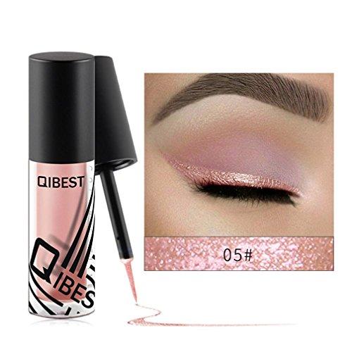 Coloré(TM) Palettes de maquillage Eyeliner liquide fard à paupières brillant Eyeliner liquide fard à paupières brillant (E)