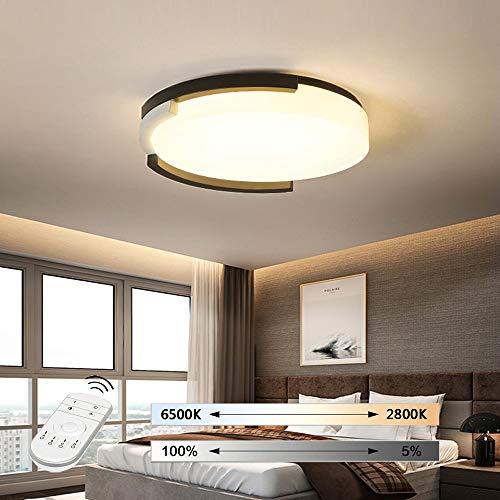 HIL eenvoudige plafondlamp, led, stijl Nordic slaapkamer, voor tweepersoonsbed, creatief romantisch woonkamerlicht 42 * 10CM