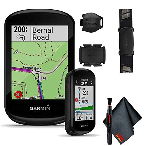 Garmin Edge 830 Sensor Bundle, Touchscreen GPS Cycling/Bike Computer with Mapping, Dynamic Performance Monitoring and Popularity Routing, Includes Speed and Cadence Sensor and HR Monitor