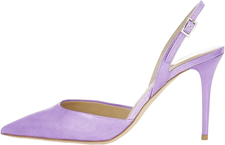 Calaier Womens Cawish Peep Toe 8CM Stiletto Buckle Sandals shoes