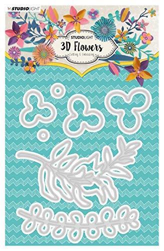 Sygjal Metallschneideformen 3D Flower DIY Scrapbooking Fotoalbum Dekorative Prägung Papercard Handwerker sterben Schneiden stirbt (Color : Plum, Size : X-Small)