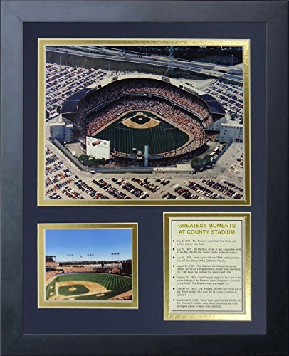 Milwaukee Brewers - County Stadium 11' x 14' Framed Photo Collage by Legends Never Die, Inc.