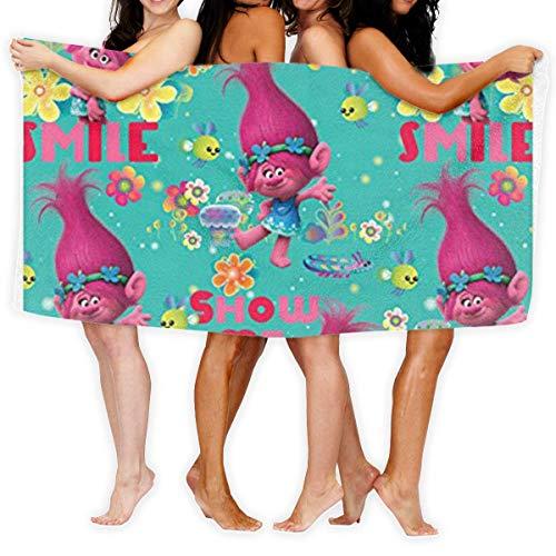 N/A Trolls Poppy Beautiful Toallas de baño, toalla de mano, máxima suavidad, alta absorción toallas resistentes a la decoloración