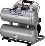Product Image of the California Air Tools CAT-4610AC Ultra Quiet & Oil-Free 1.0 hp 4.6 gallon Aluminum Twin Tank Electric Portable Air Compressor, Silver