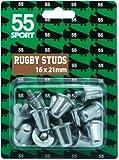 55Sport Crampons de remplacement en aluminium pour chaussures de rugby conformes à la norme BS6366