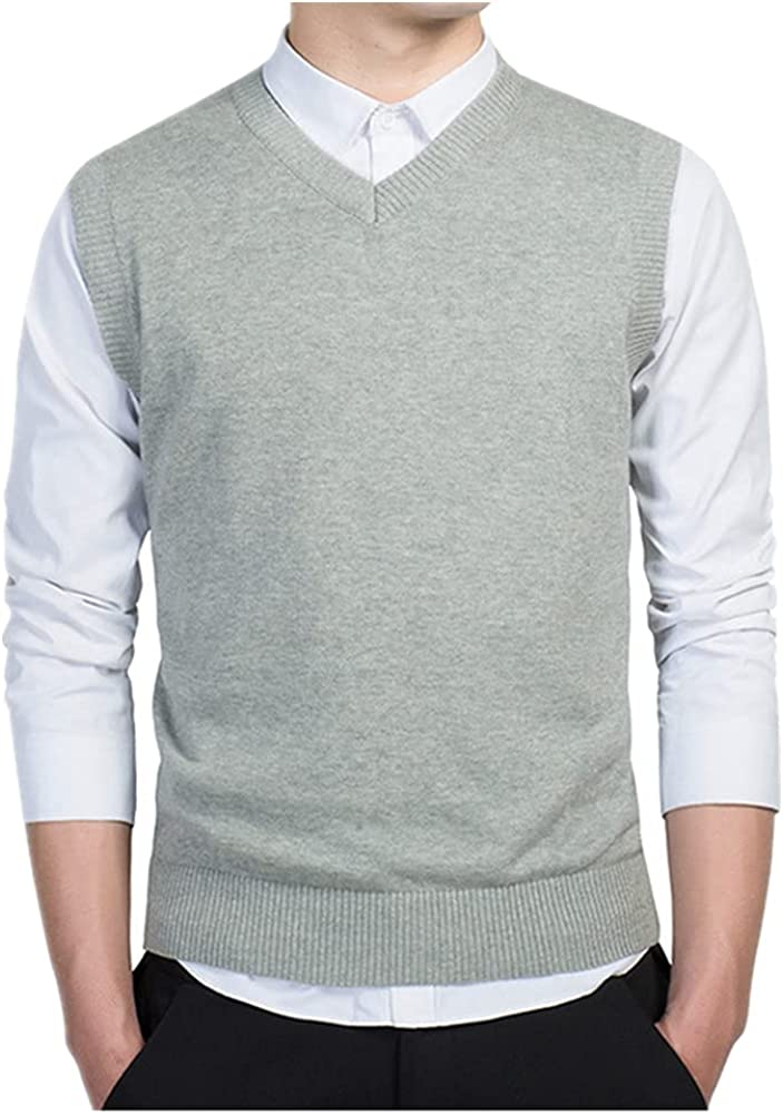 NP Genuine Mens Sleeveless Sweater Vest Mal Knitted Wear Casual Knitwear Choice