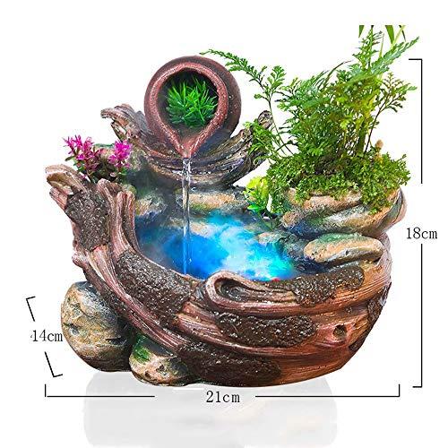 GL-Indoor fountain Micro Paisaje Interior decoración decoración del hogar suculentas Bonsai rocalla Fuente de Agua Molino decoración de Oficina