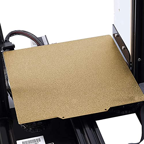 UniTak3D PEI Sheet Printing Bed Kits Etiqueta Magnética Extraíble Cama con Calefacción con Superficie Esmerilada 235x235 * 2mm para Impresoras 3D Ender 5 / Ender 3 Series/CR-20 Series/CP-01