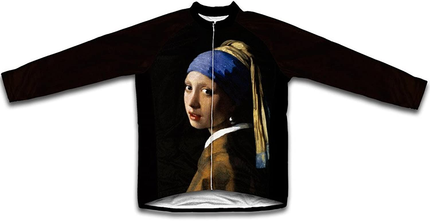 Vermeer  Girl with a Pearl Earring Winter Thermal Cycling Jersey for Women