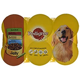 Pedigree Wet Dog Food for Adult Dogs, Meaty Meals in Jelly, 24 Cans (24 x 400 g)