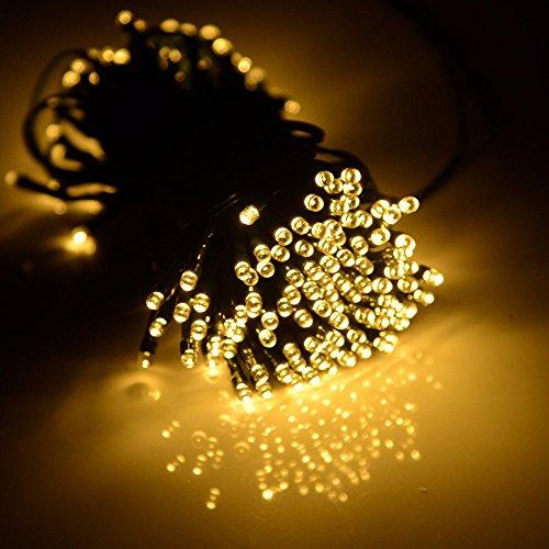 Yliquor 100 LED Solar/Battery Light Outdoor Fairy String Christmas Garden Lights