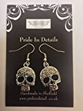 Tibetan Silver Forrest Skull Earrings COMES WITH RETAIL PACKAGING CH117