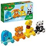 LEGO 10955 Duplo Tren de los Animales, Juguete de Construcción con Elefante, Tigre, Panda y Jirafa para Niños de +1,5 años