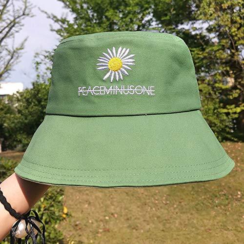BANYANU Sombrero para El Sol Femenino, ala Grande De Todo Fósforo De Moda para Damas De Verano para Cubrirse La Cara, Cómodo Sombrero De Pescador A Prueba De Sol Y Protección Solar,Mint Green
