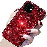 Beautyfull - Funda para Oppo K3/Realme X, con cristales brillantes, color rojo