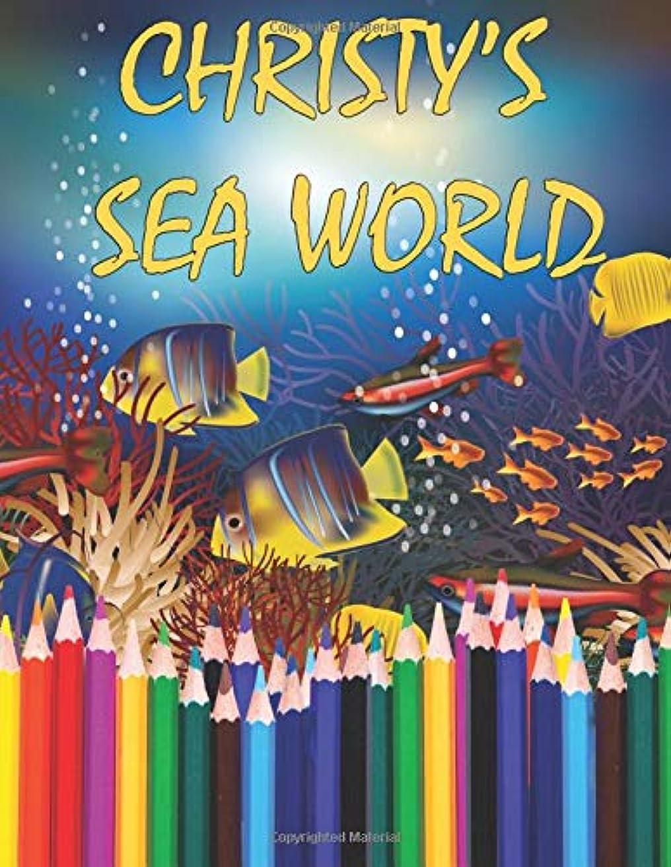 隠されたジョセフバンクスオフセットChristy's Sea World: Adult Coloring Book