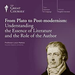 From Plato to Post-modernism: Understanding the Essence of Literature and the Role of the Author                   De :                                                                                                                                 Louis Markos,                                                                                        The Great Courses                               Lu par :                                                                                                                                 Louis Markos                      Durée : 12 h et 14 min     Pas de notations     Global 0,0