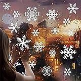 Cocobee - Adhesivos de Pared con diseño de Copos de Nieve Blancos para decoración de Ventanas y Puertas de Navidad