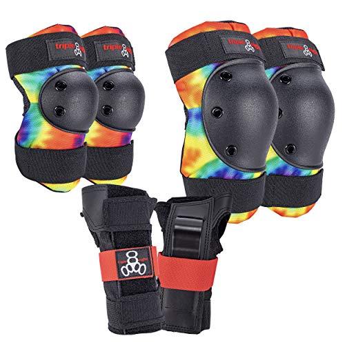 Triple Eight Saver Series Pad Set with Kneesavers, Elbowsavers and Wristsavers, Small, Tie Dye