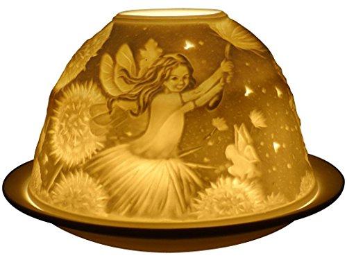 Welink Light Glow - Portavelas de té con diseño de hadas de diente de león