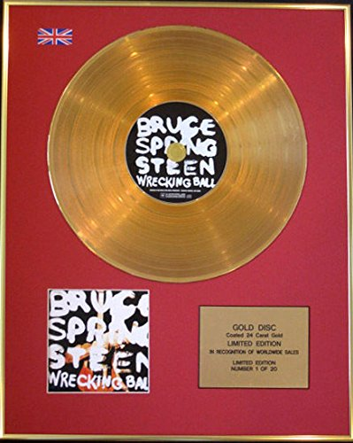 BRUCE SPRINGSTEEN-Ltd Edition CD Gold Disc 24 Karat mit Schaufel