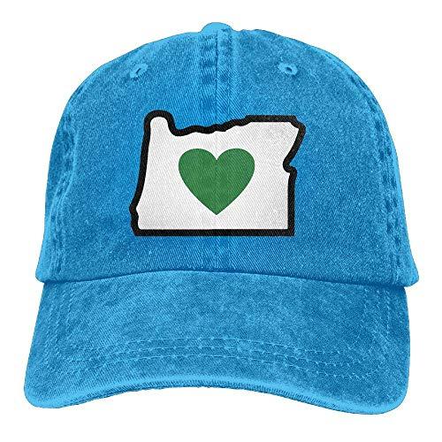 Kenice Unisex Baseball Cap Love Oregon Cotton Jean Trucker Hat for Women