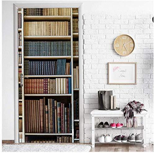 3d tür aufkleber wandbilder modernen stil bücherregal tür aufkleber diy selbstklebende tapete schlafzimmer wohnzimmer wohnkultur wandtattoo adesivo para porta bücherregal