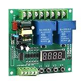 Modulo relè, Scheda di controllo avanti/indietro 220V, Interruttore di controllo timer di ritardo digitale, Relè temporizzazione motore con due ritardi, Relè indicatore LED