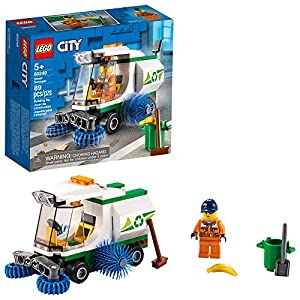 LEGO City Street Sweeper 60249 Construction Toy, Cool Building Toy for Kids, New 2020 (89 Pieces) - 51GBIOaM3XL - LEGO City Street Sweeper 60249 Construction Toy, Cool Building Toy for Kids, New 2020 (89 Pieces)